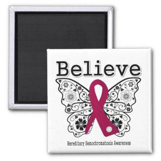 Believe Hereditary Hemochromatosis 2 Inch Square Magnet