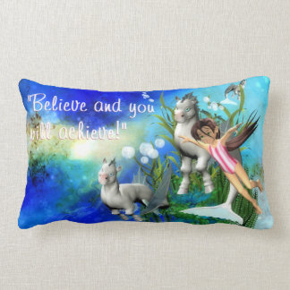 Believe Hippocamp Kids Affirmation Pillow