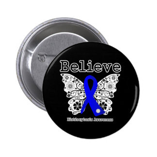 Believe Histiocytosis Pinback Buttons