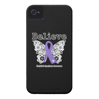 Believe - Hodgkins Lymphoma Butterfly iPhone 4 Case-Mate Cases