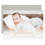 Believe Holiday Photo Card at Zazzle