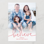 """Believe Holiday Photo Card<br><div class=""""desc"""">Photography &#169; Kate Williams: https://www.flickr.com/people/kate_williams/ and provided by Creative Commons: https://creativecommons.org/licenses/by/2.0/</div>"""