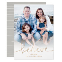 Believe Holiday Photo Card