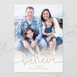 """Believe Holiday Photo Card<br><div class=""""desc"""">Photography © Kate Williams: https://www.flickr.com/people/kate_williams/ and provided by Creative Commons: https://creativecommons.org/licenses/by/2.0/</div>"""