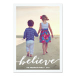"BELIEVE | HOLIDAY PHOTO CARD 5"" X 7"" INVITATION CARD"