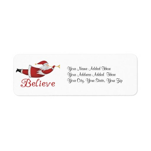 Believe Holiday Return Address Labels