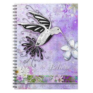 Believe Hummingbird Notebook