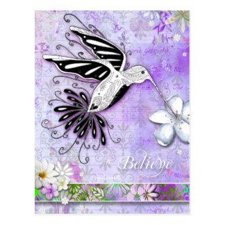 Believe Hummingbird Postcard