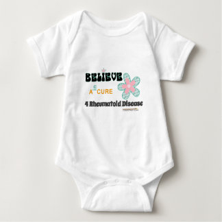 Believe in a cure baby bodysuit