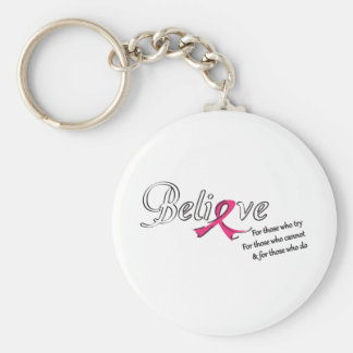 Believe in a Cure Basic Round Button Keychain