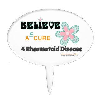 Believe in a cure cake topper