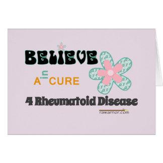 Believe in a cure card