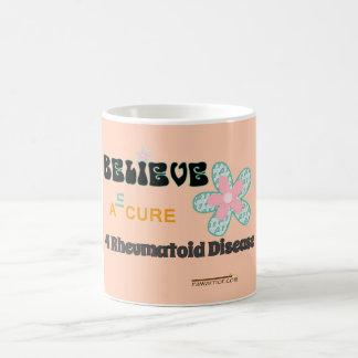 Believe in a cure coffee mug
