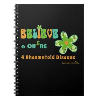 Believe in a cure design notebook