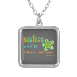 Believe in a cure for RA / RD Silver Plated Necklace