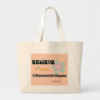 Believe in a cure for RD Large Tote Bag