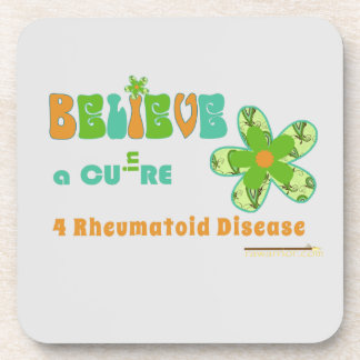 Believe in a CURE for #rheum Coaster