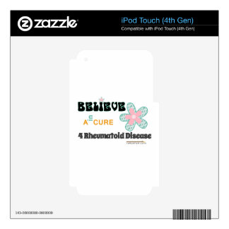 Believe in a cure iPod touch 4G decal