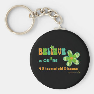 Believe in a CURE message Keychain