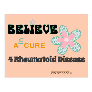 Believe in a cure postcard