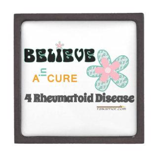 Believe in a cure premium keepsake box