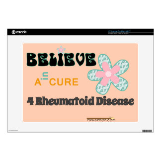 """Believe in a cure skins for 15"""" laptops"""