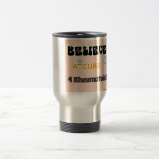 Believe in a cure travel mug