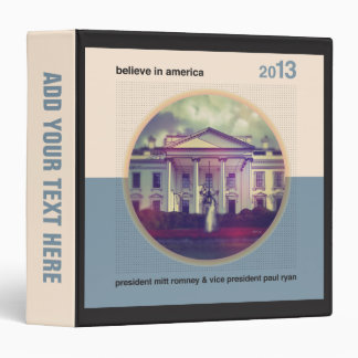 Believe In America 3 Ring Binder