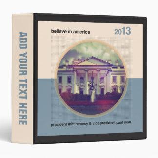 Believe In America 3 Ring Binder