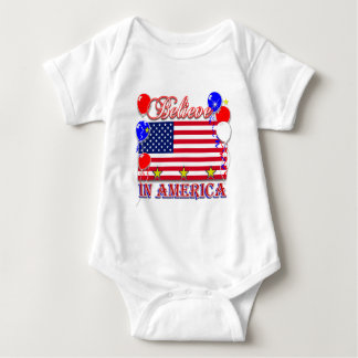 Believe In America Baby Bodysuit
