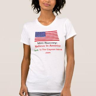 Believe In America Bank In The Cayman Islands .com Tshirt