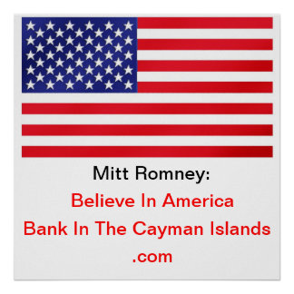 Believe In America Bank In The Cayman Islands Print