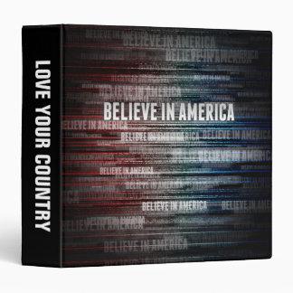 Believe In America Binder