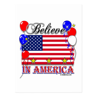 Believe In America Postcard