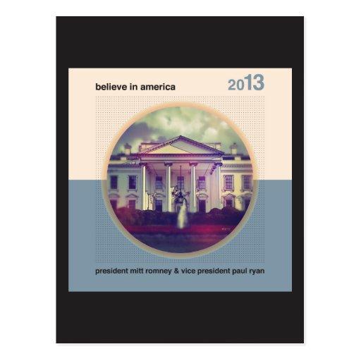 Believe In America Postcard