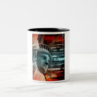 Believe In America Two-Tone Coffee Mug