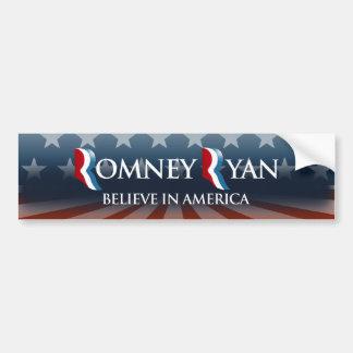 BELIEVE IN AMERICA WITH ROMNEY RYAN -.png Bumper Sticker