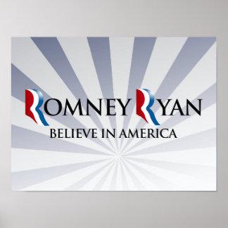 BELIEVE IN AMERICA WITH ROMNEY RYAN.png Print