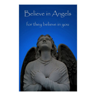 Believe in Angels 36 x 24 Poster