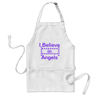 believe in angels adult apron