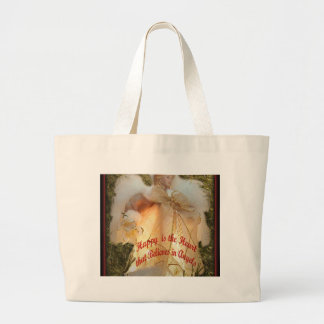 Believe in Angels Large Tote Bag