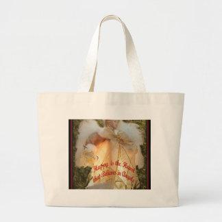 Believe in Angels Large Tote Bag