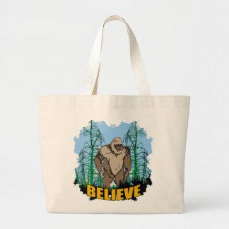 Believe in Bigfoot Tote Bag