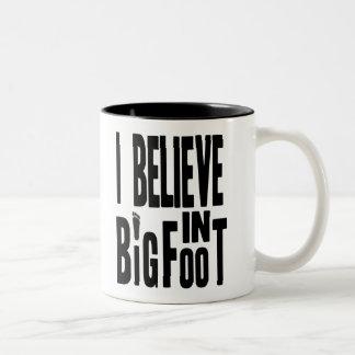 Believe in BIGFOOT - Black Two-Tone Coffee Mug