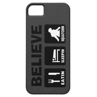 Believe in Bigfoot Eatin Sleepin Squatchin iPhone SE/5/5s Case