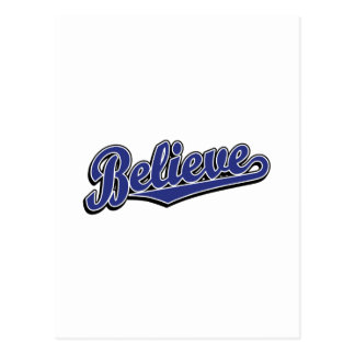 Believe in Blue Deluxe Postcard