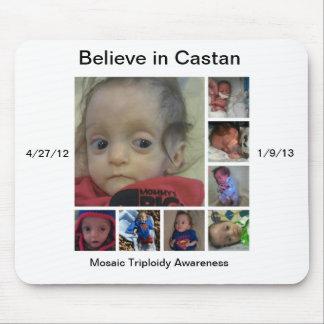 Believe in Castan mousepad Mosaic Triploidy Awaren