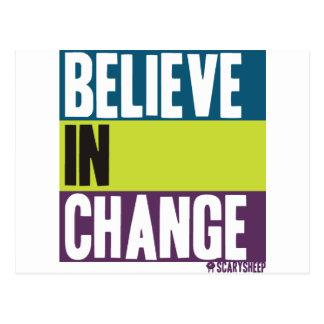 Believe in Change Postcard