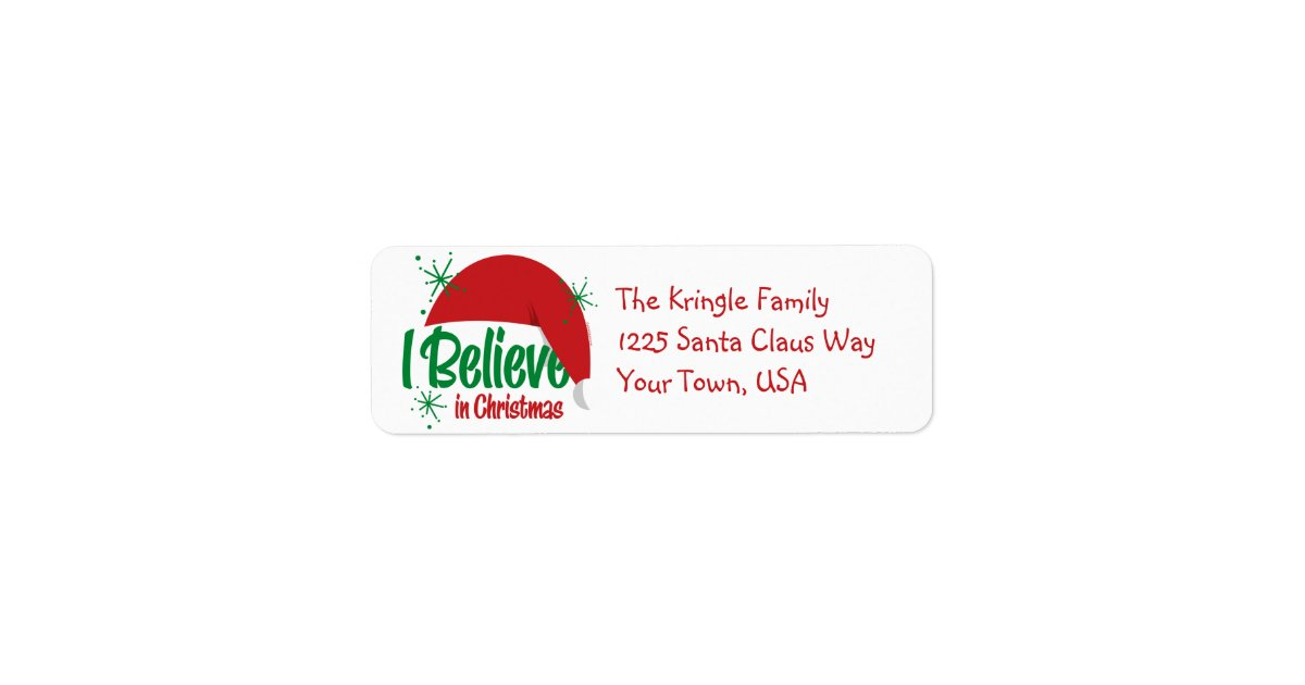 believe in christmas address labels zazzle com