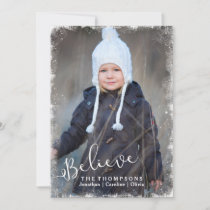 Believe in Christmas Rustic Snow Holiday Photo